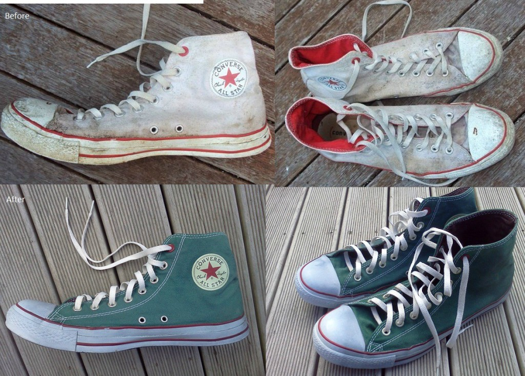 Dye those old sneakers