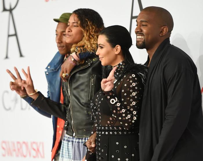 Kanye West and wife Kim Kardashian