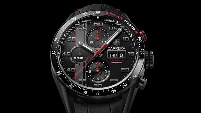 """Nissan : Tag Heuer Reveals Special Edition Carrera """"Nismo"""" Watch"""