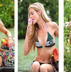 Denise Richards Splurges On Strawberry Ice Cream in String Bikini