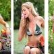Denise Richards Splurges On Strawberry Ice Cream in String Bikini