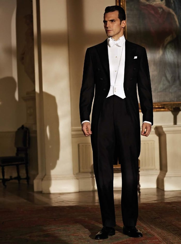 The white tie as being the evening dress is allowed only after 6pm