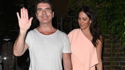 Simon Cowell Enjoys Party with Lauren Silverman