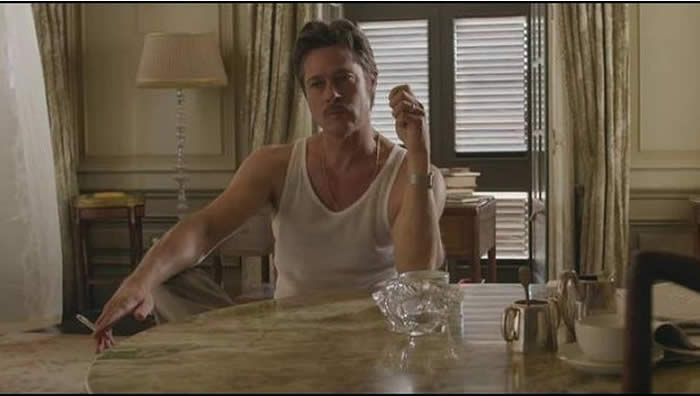 Brad Pitt in a scene from By The Sea