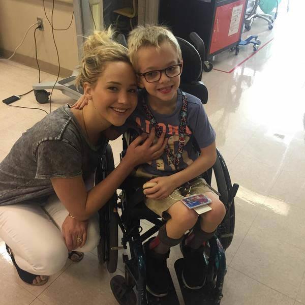 Jennifer Lawrence Visits Sick Children