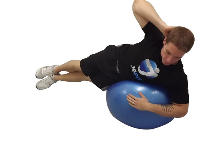 Side Crunch on Ball