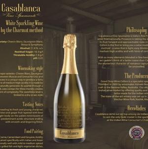 Casablanca Spumante Sparkling Wine