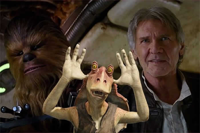 Jar Jar Binks Harrison Ford