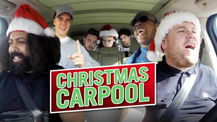 One Direction, Justin and James Corden 'Christmas Carpool Karaoke'