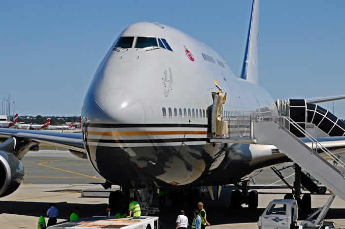 The Sultan of Brunei and his Boeing 747-430