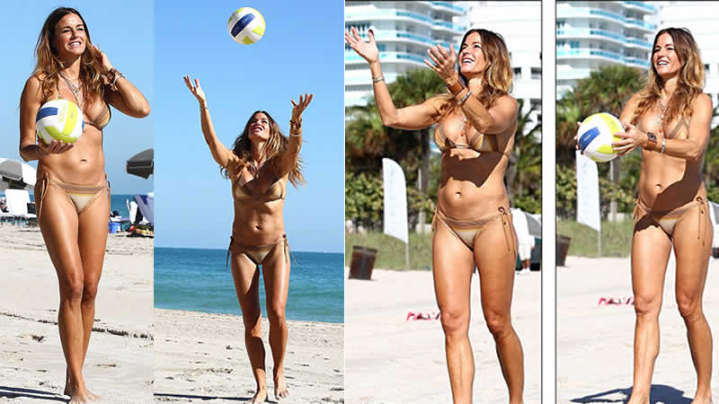 Kelly Bensimon Bikini Body in Miami Beach