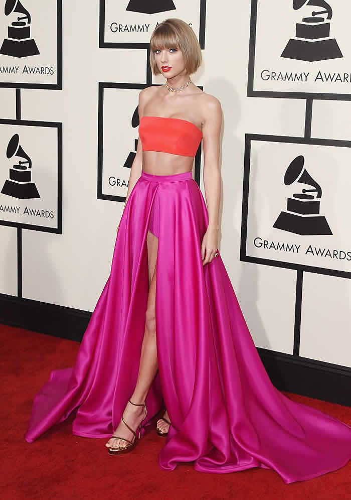 Taylor Swift attend The 58th GRAMMY