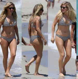 Ellie Goulding Slips into Striped Bikini During Getaway in Miami