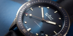 Blancpain Fifty Fathoms Bathyscaphe Watch In Gray Plasma Ceramic