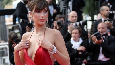 Bella Hadid goes underwear-free and steals show at Cannes Film Festival