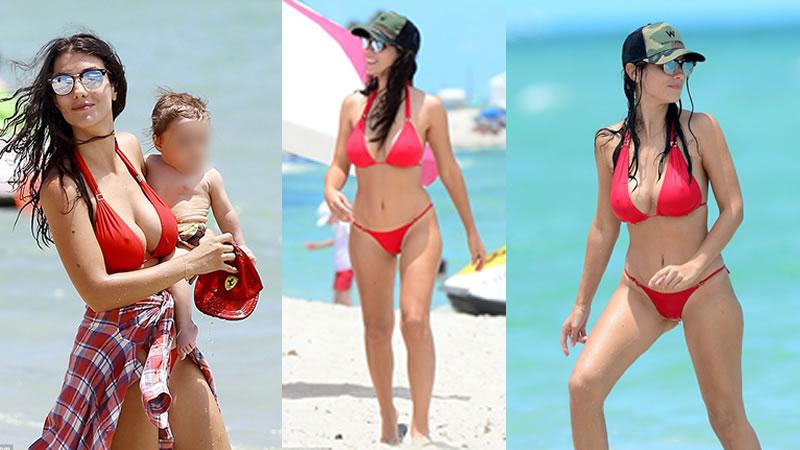 Bacary Sagna Red Bikini