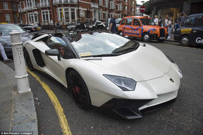 This Qatari-registered Lamborghini Aventador was one of the cars which attracted the attention of local parking wardens