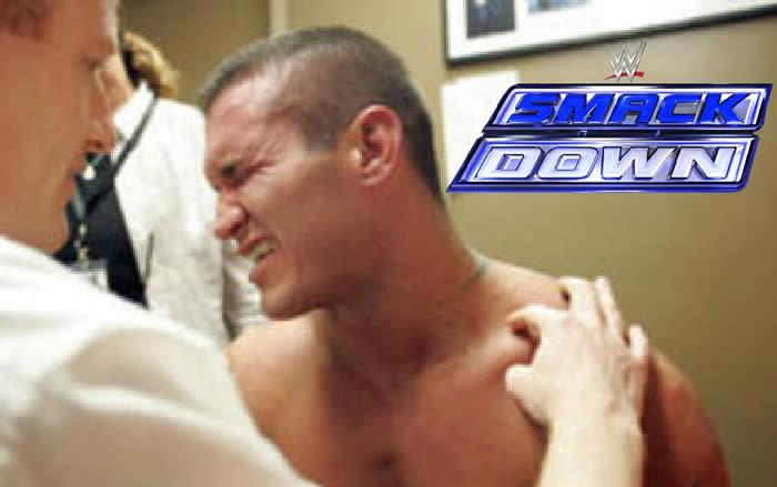 Randy Orton injury during match