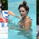 Katharine McPhee Showcases Her Bikini Body Poolside in Miami Beach