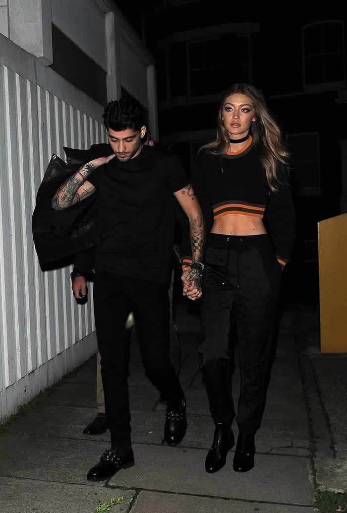 Gigi Hadid Zayn Malik Together London Fashion Week