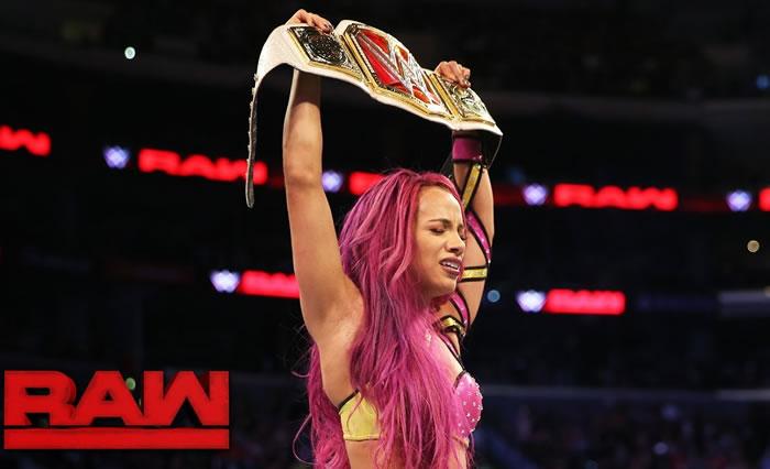 Sasha Banks vs. Charlotte - Raw Women's Championship Match