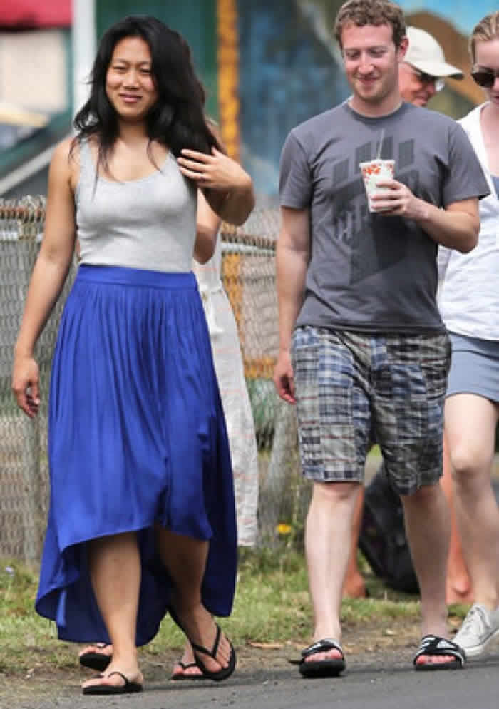 Mark Zuckerberg and Priscilla Chan