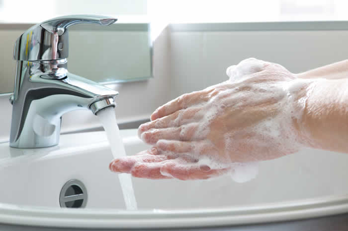 Not washing your hands often or thoroughly enough