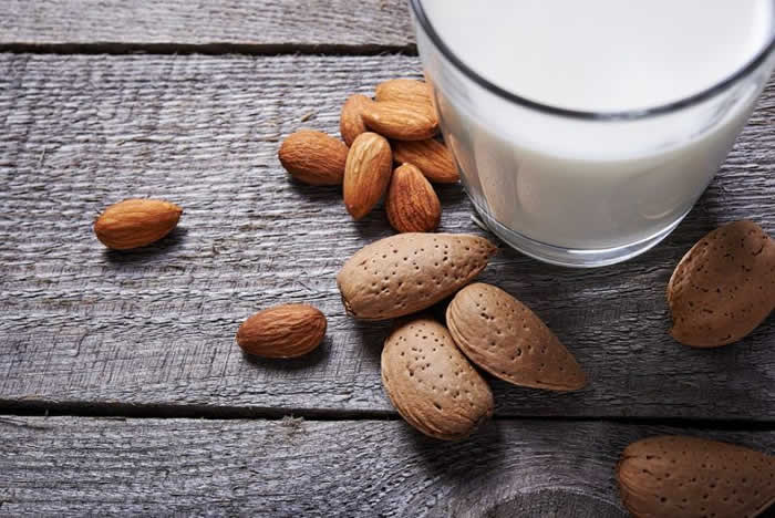 Sweetened almond milk