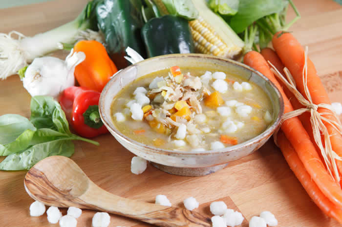 Slow Cooker Pork and Hominy Posole Soup