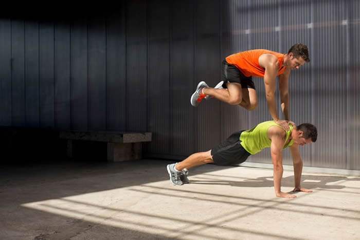 Partner Plank and Plyos