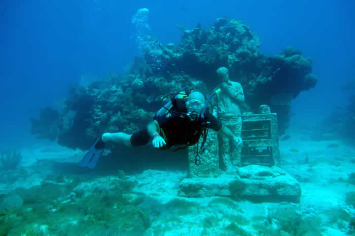8. Scuba dive through Cancún, Mexico's, underwater museum.