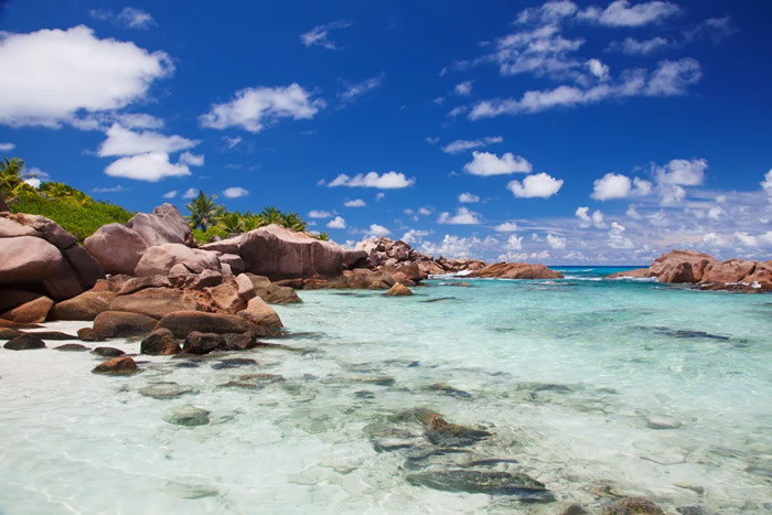 2. Tan on the picturesque beaches of Seychelles in East Africa.