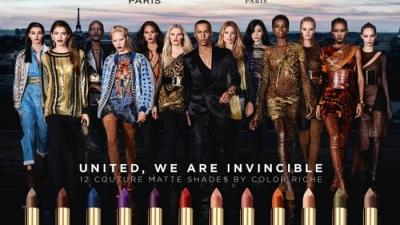 L'Oréal Paris and Balmain Paris Unveil Lipstick Ad Campaign