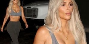 Kim Kardashian Looks Miserable in Just a Bra