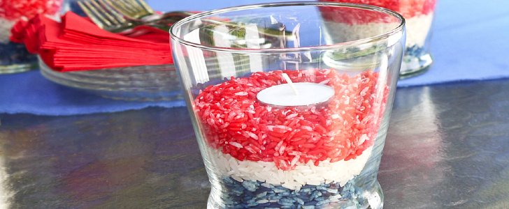Celebrate! Patriotic Bug-Away Candleholders