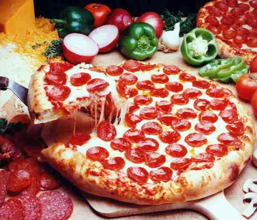 Cheese and Pepperoni Pizza