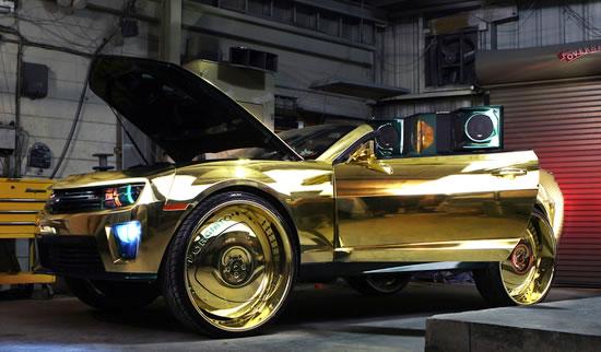 Gold Soaked King zl1 Camaro Car