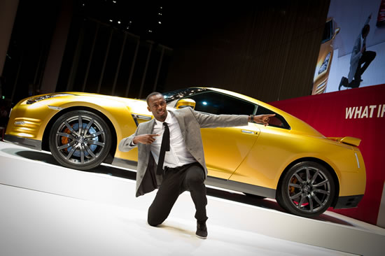 Nissan Auction Usain Bolt special edition Gold Car