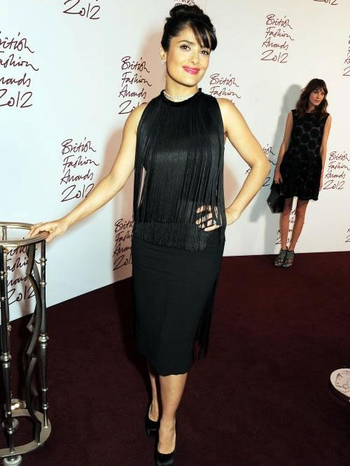 Salma Hayek 2012 British Fashion
