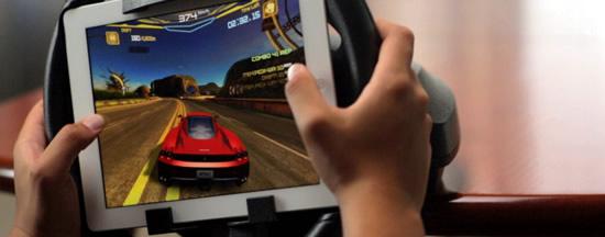 Worlds First ipad Racing Wheel Photos