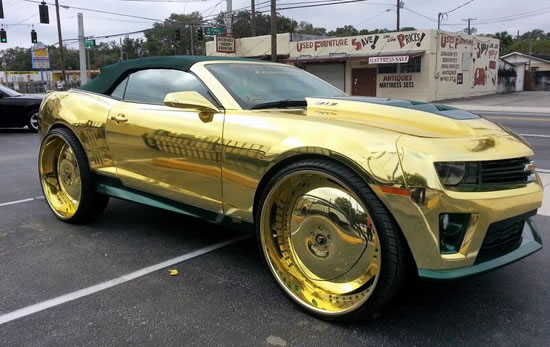 Gold Soaked King zl1 Camaro
