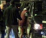 Rihanna Leaving late night party with Chris Brown