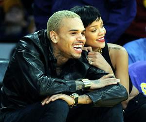 Rihanna Chris Brown in Public