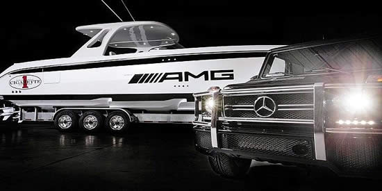 Cigarette Racing and AMG Yachts Pic