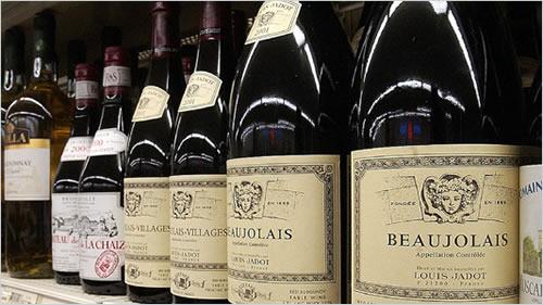 French Beaujolais Wine