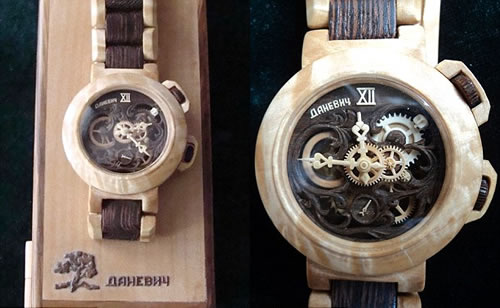 Carpenter Carves Functioning Watches Entirely from Wood