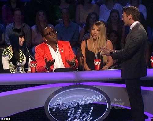 Nicki Minaj taunts Mariah Carey American Idol