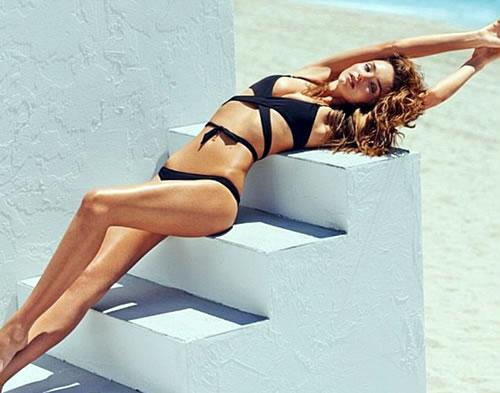 Miranda Kerr Black Bikini