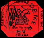British Guiana 1 Cent Magenta Stamp