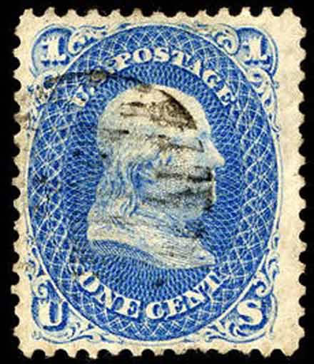 U.S. Franklin Z-Grill Stamp